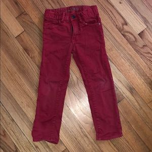 Boys red Gap jeans size 4